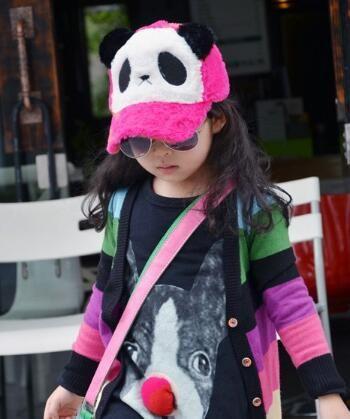 Mignon Casual Baseball Cap Femmes En Peluche Panda de Bande Dessinée Snapback Chapeaux Ajustés Hiver Chaud Caps En Plein Air Voyage Sports Chapeaux Valentine Cadeau DHL Gratuit