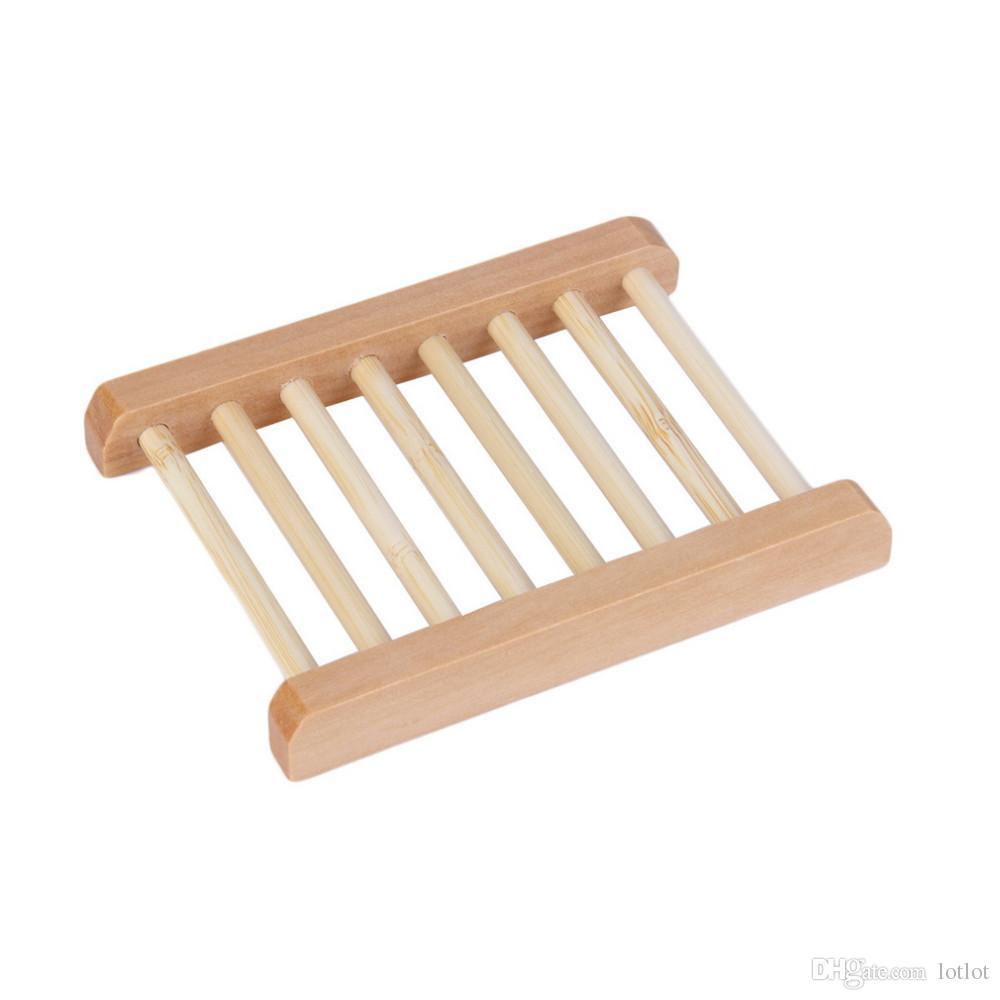 Escada de madeira natural caixa de sabão Saboneteira De Madeira Natural Saboneteira Titular Caixa de Prato Caixa De Armazenamento Novidade Chuveiro Lavagem