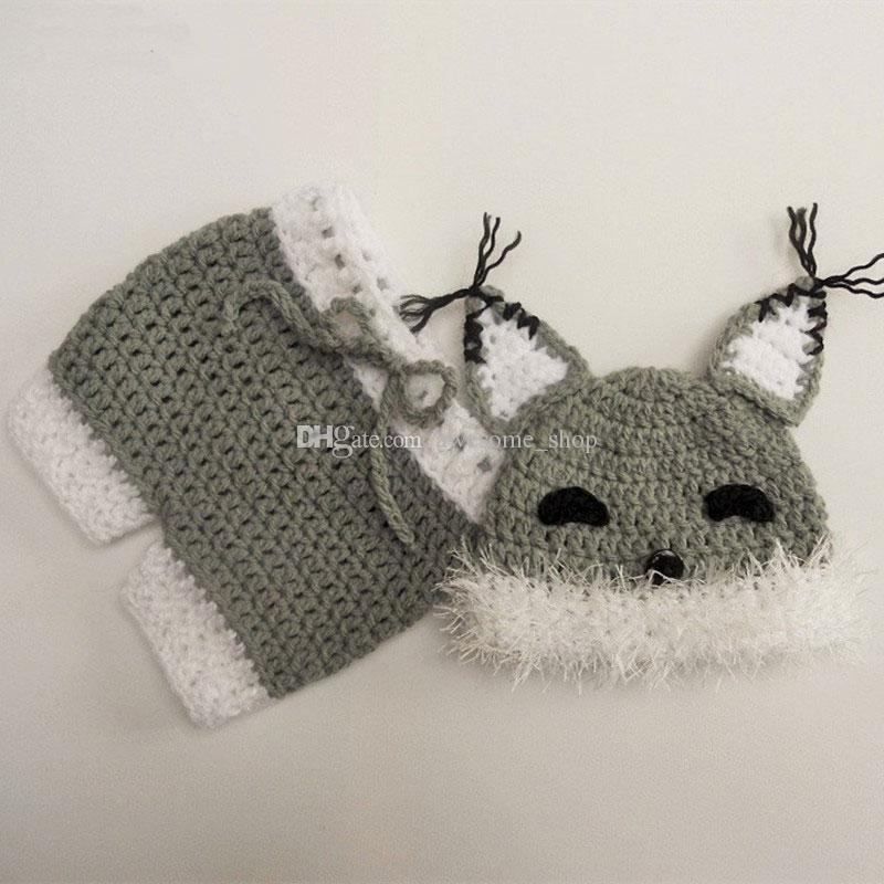 Compre Adorável Cinza Fox Recém Nascidos Outfits 49d1909c27b