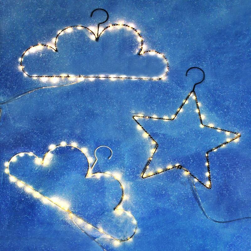 Wholesale 40led Creative Diy Cloud&Star Shaped Hangers String Light ...