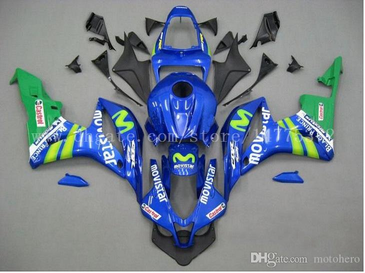 Abs fairings+tank for HONDA CBR600RR F5 2007-2008 CBR600RR 07-08 CBR600 RR 2007 2008 F5 injection fairing kits #7v6h3 Blue movistar