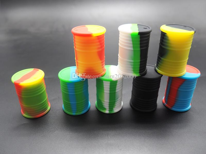 unique design oil drum food grade quality Silicone Jars Silicone Wax container and Oil Container 30X45mm