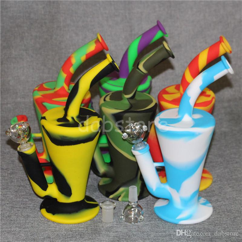 2017 Silicon Rigs Waterpipes Silicone Hookah Bongs Silicon Dab Rigs Cool Shape good quality and DHL