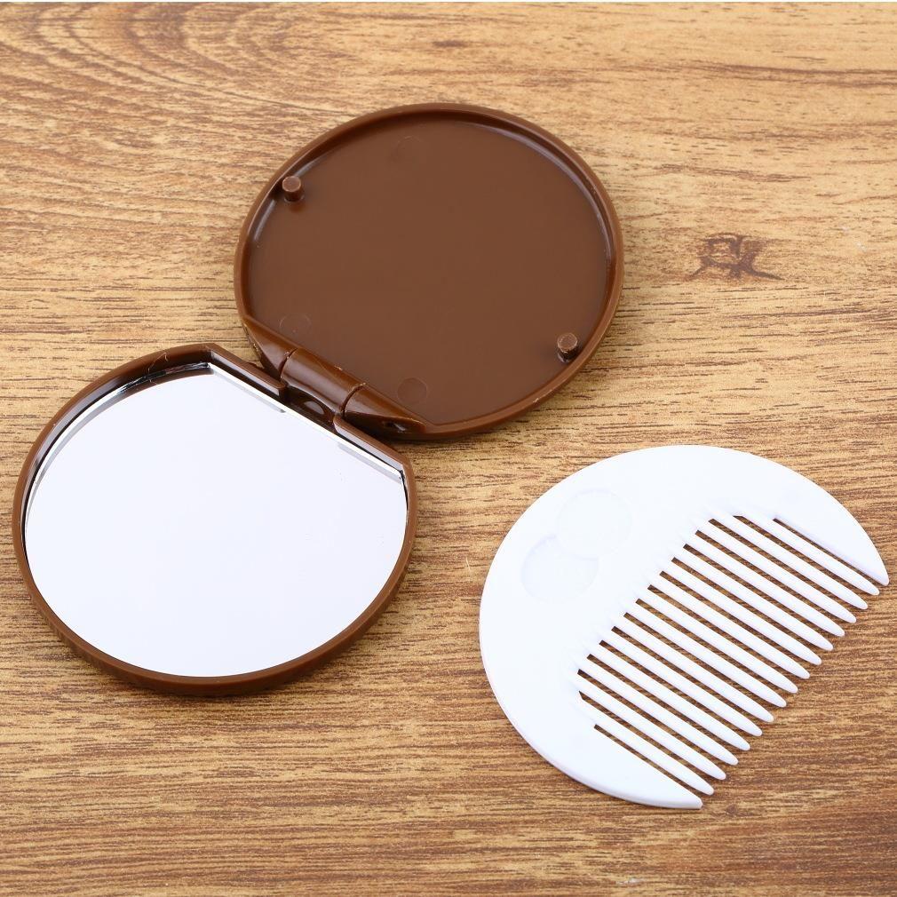 الحرة الشحن / الإبداعية الشوكولاته لطيف شطيرة الماكياج مرآة / المحمولة جيب مستحضرات التجميل مرآة مشط / موضة هدايا / بيع بالجملة