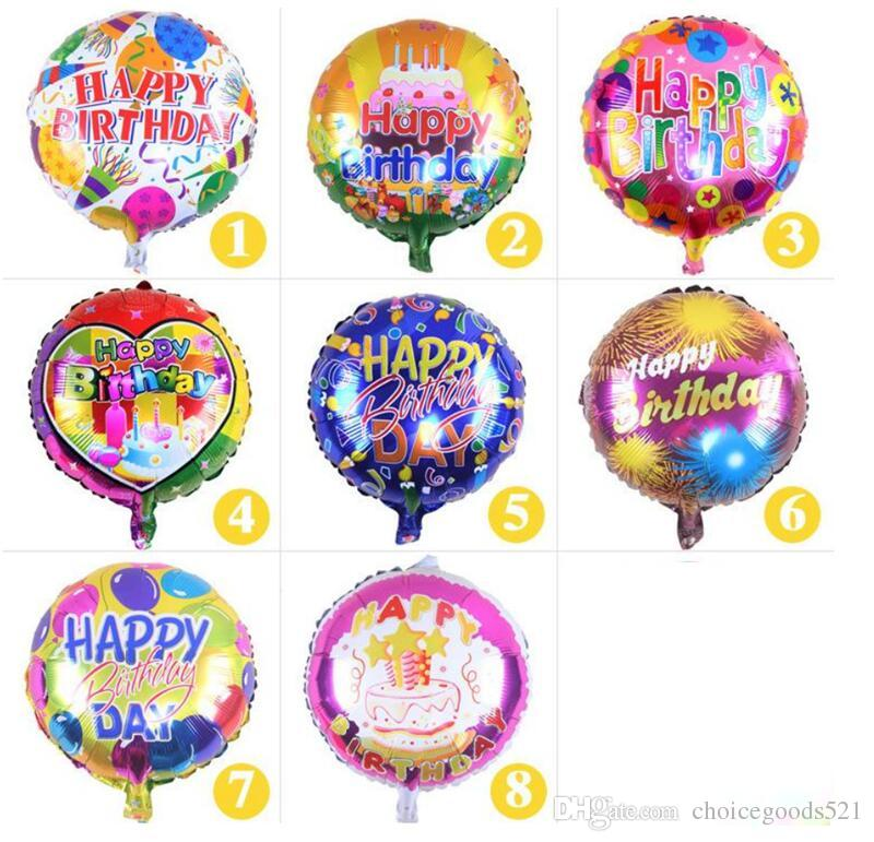 The New 18 Inch Round Happy Birthday Balloons Holiday Party Decoration Balloon Toys For Children 50 P Sculptures Ballonfest From Choicegoods521