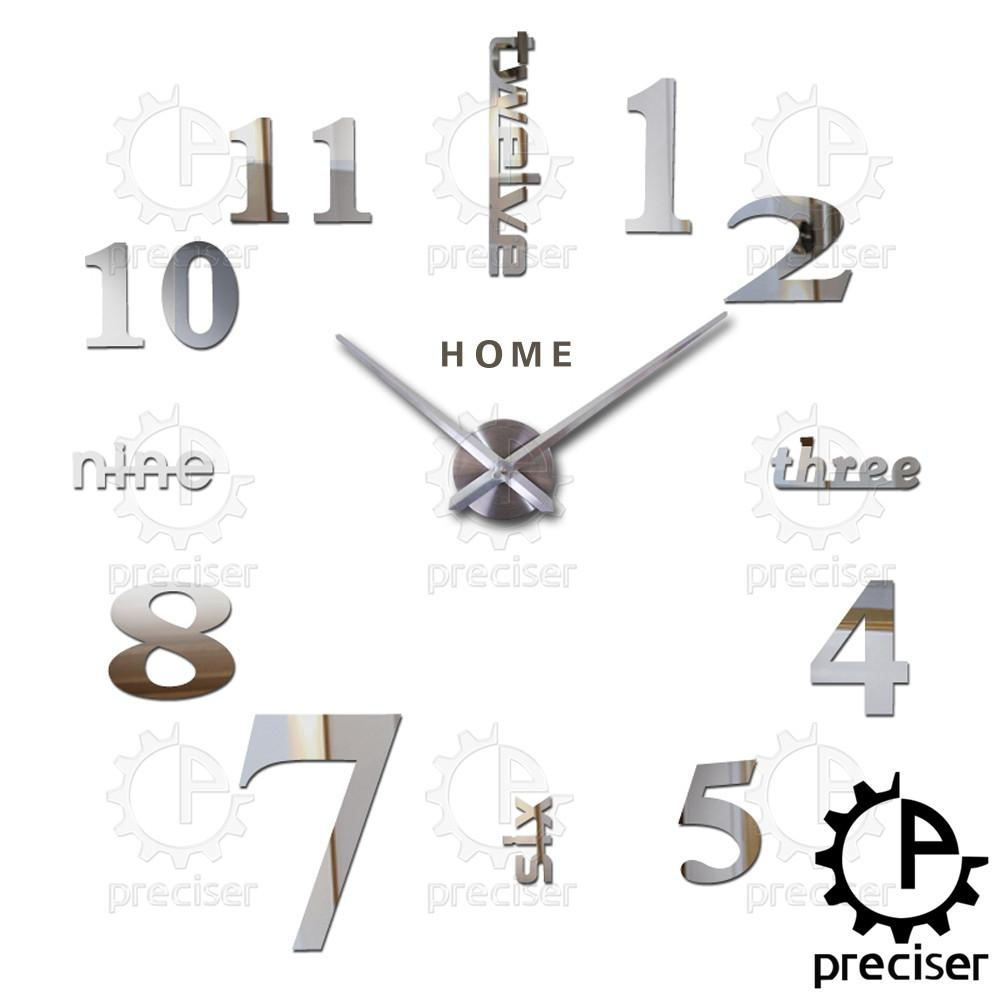 Wholesale Home English Letters Arabic Digital Wall Clock Modern