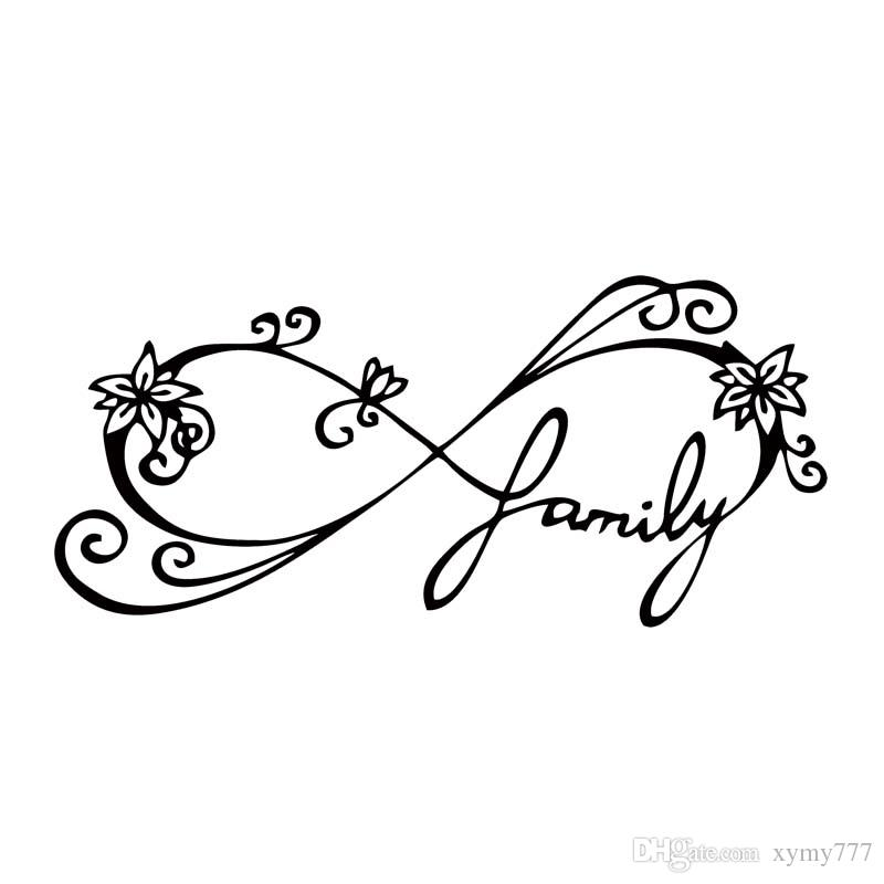 6ddab137276 2019 For Infinity Family Decal Car Window Sticker Wall Vinyl Art Funny Car  Styling Accessories Decorate Graphics From Xymy777, $1.31 | DHgate.Com
