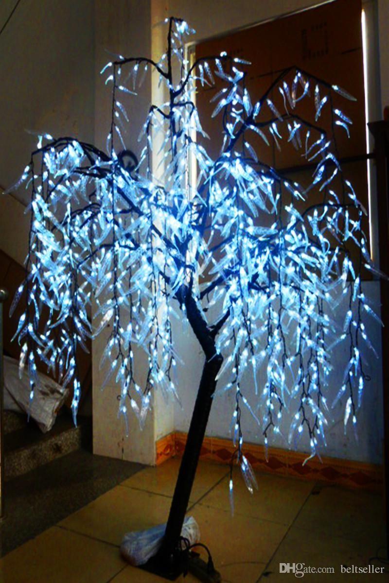 1.8M / 6ft color blanco LED Artificial Willow Weeping Tree Light leds 110 / 220VAC Rainproof uso al aire libre jardín de hadas decoración de la Navidad