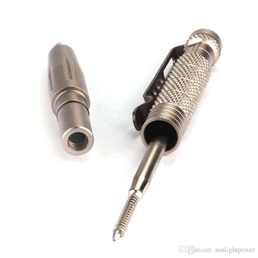Multipurpose Aluminum Tactical Pen Emergency Glass Breaker Outdoor Multi Tools Breaker Tool Hiking Breaker Self Defense