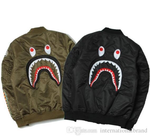The Shark Wgm Thick Jackets Men Women Fashion High Quality