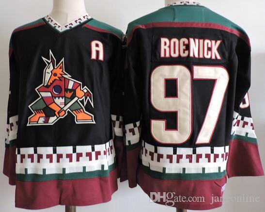 2017 CCM Retro Arizona Coyotes Jerseys 97 Jeremy Roenick ICE Hockey Jersey  Black White Embroidery Cheap Wholesale UK 2019 From Janeonline ae30bebaba9