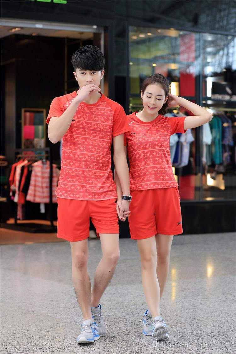 New Korea Badminton Team Jerseys Badminton Shirts Hombre Mujer Conjuntos de bádminton para el juego Tenis de mesa Jersey Badminton jersey
