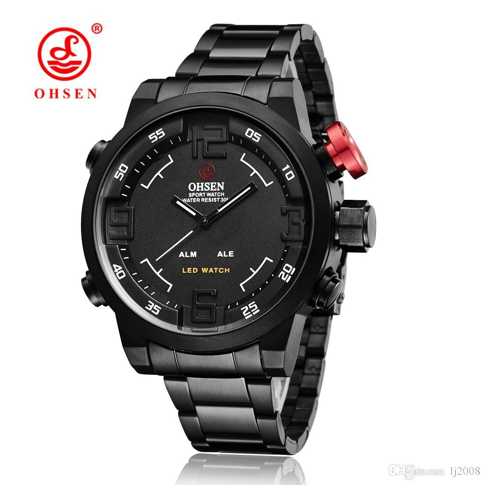 73d4070925c 2017 NEW OHSEN Brand Digital Quartz Wristwatch Mens Male 30M Casual Outdoor  Electronic Military LED Watches Rreloj Masculino Hombre Horloge Ingersoll  ...
