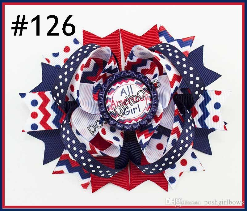 newest 4th of july hair bows girl boutique hair bows patriotic