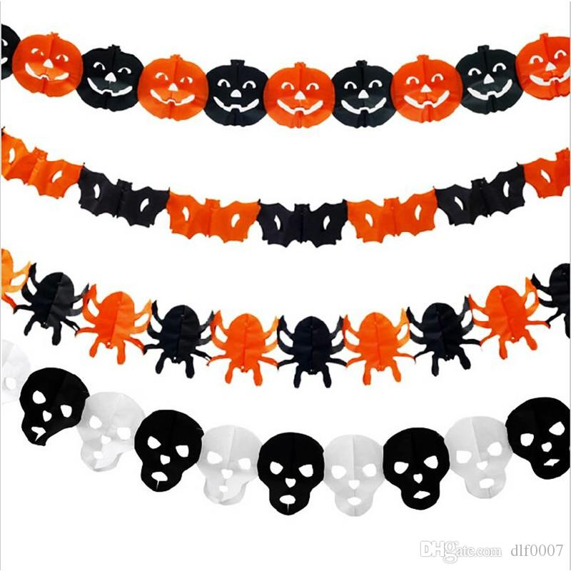 Paper Chain Garland Party Banner Event Decorations Pumpkin Bat ...