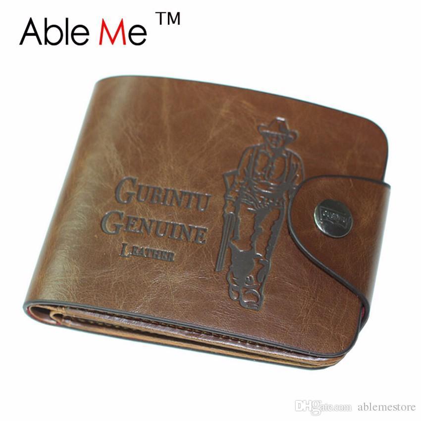 Hot 2017 Luxury Fashion Men Purse Vintage Cowboy Hasp Money Purse Wallet Man Top Quality Men's Photo Coin Card Holder Short Male Wallet