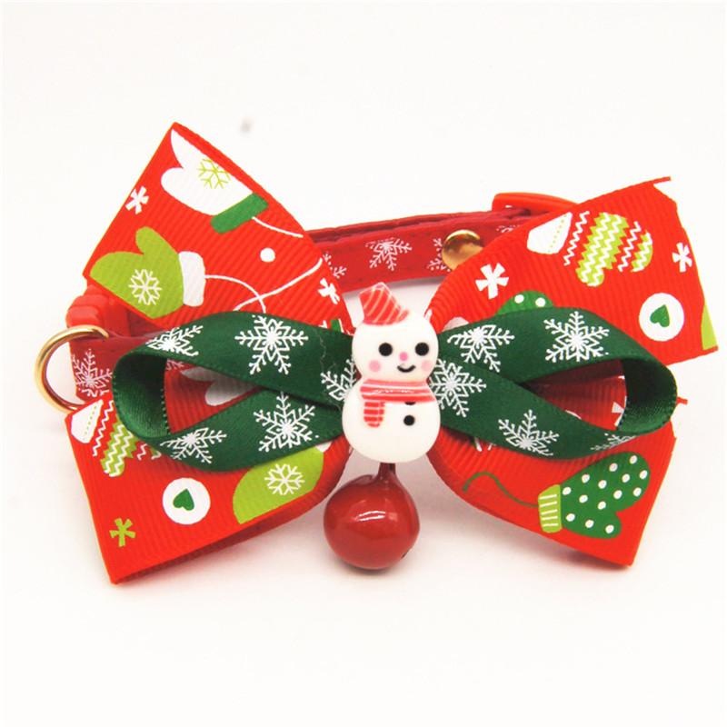 Christmas Style Pet Dog Bell Tie Cats And Dogs Collar Large Dogs Christmas Tie Pet Accessories 6 Styles Available