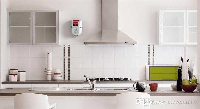 LED 디지털 디스플레이 가스 LPG 가정용 누설 감지기 모니터 음성 경보 센서 GD13