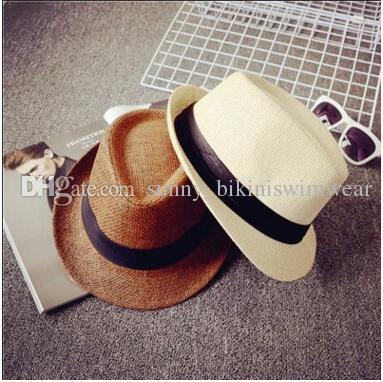 687178d45e4 Many Color Panama Straw Jazz Sun Hats Fedora Soft Vogue Men Women ...