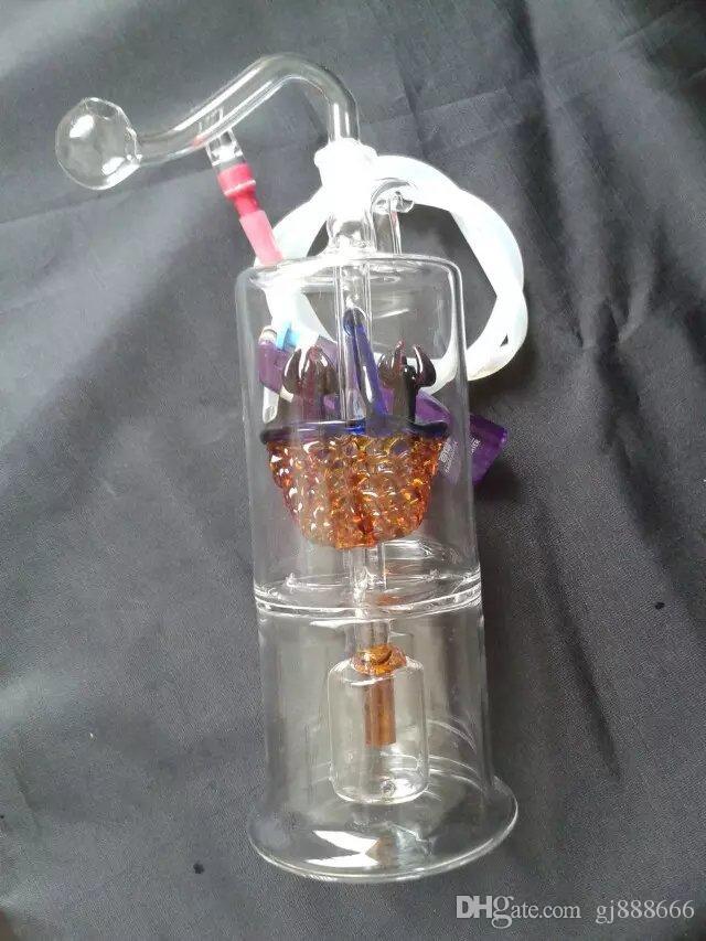 Turuncu çiçek sepeti filtre nargile cam bongs aksesuarları, Cam Sigara Borular renkli mini çok renkli El Boruları En İyi Kaşık glas