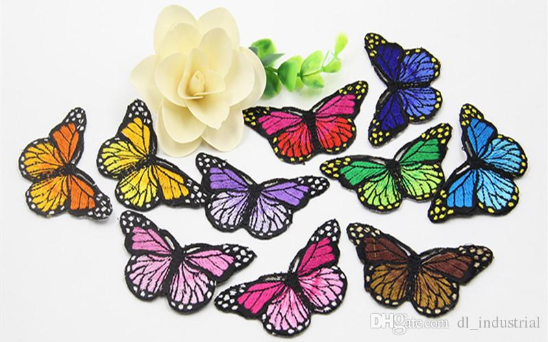 Embroidery patch Butterfly shape Iron patch cloth Back gum appliques skirt jeans jacket racksack sewing decorative accessories DL_CPIA001