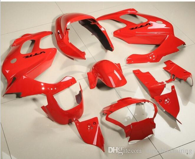 3 regali gratuiti Carene Honda VTR1000F 97 98 99 00 01 02 03 04 05 VTR1000F 1997 2005 ABS Kit carenatura carrozzeria Carrozzeria rosso AZ5