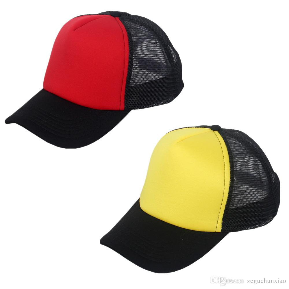 4baa5e3f871 2 Pack Summer Style Trucker Hat Plain Mesh Caps Cheap Snapbacks Sports Men  Women Adult Red Yellow For Unisex Polyester 2 Pack Hats Caps Snapbacks Mesh  Caps ...