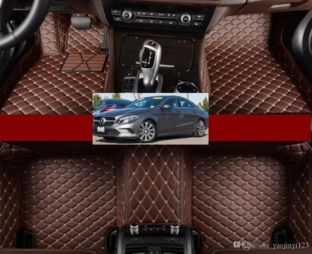 2019 Anti Slip Leather Xpe 5d Car Mats For 2017 Benz Cla 250 Base