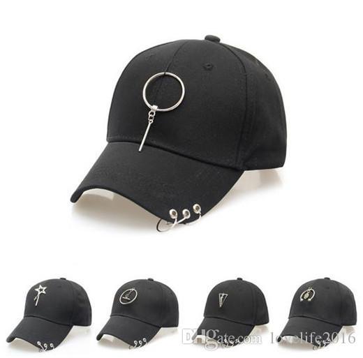 3d066e53f21 Hip Hop Snapback Baseball Caps Men Women Peaked Cap Fashion Metal Ring Hats  Casual Sport Hats Adjustable High Quaity A001 Snapbacks Sun Hats Ball Caps  ...
