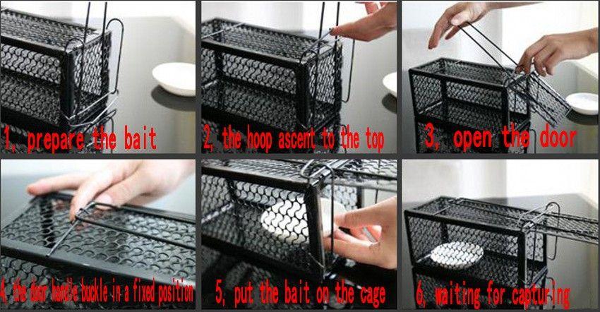 Komik Kemirgen Hayvan Fare Insancıl Canlı Tuzak Hamster Kafesi Fareler Sıçan Kontrol Yakalamak Yem Haşere Kontrol Araçları