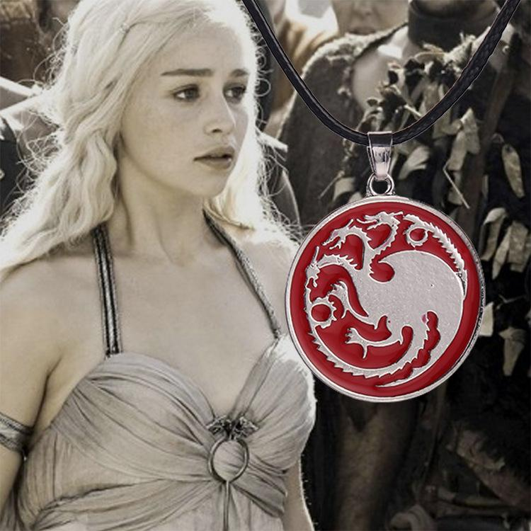 Free shipping Game of Thrones necklace Targaryen dragon song of ice and fire necklace pendant for women and men fashion jewelry accessories