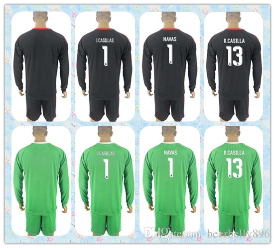 1700689446e ... ireland real madrid 1 i casillas green goalkeeper long sleeves soccer  club jersey dc0a8 c9b70