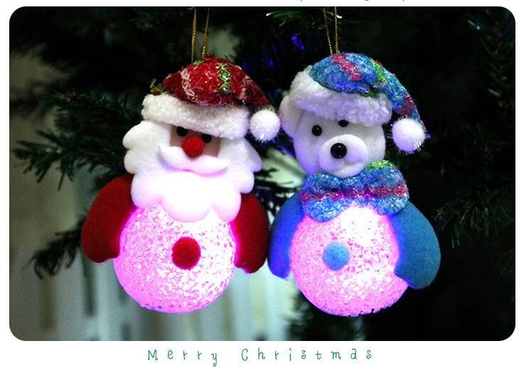 Novelty Eva Crystal Christmas LED Night Light Lamp Toys Xmas Ornaments Tree Hanging Decor Home Party Festive Supplies Flashing Decoration