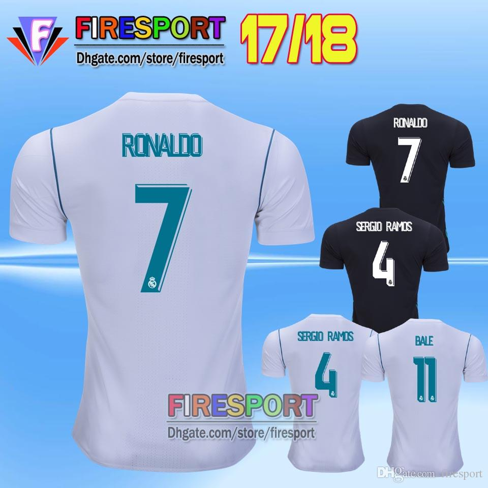 a9584a972 ... coupon for isco 23 2017 new arrived real madrid home white away black soccer  jerseys .