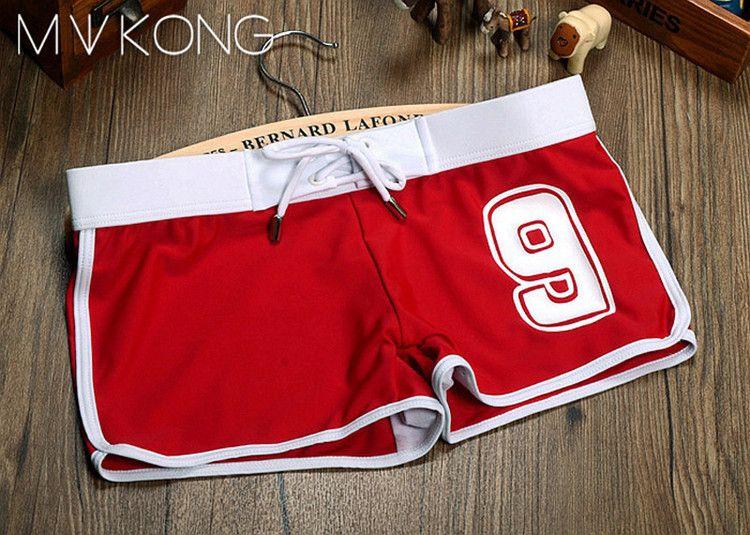 Mens Swimwear Male SPA Shorts Mans Swimsuit Double Layer Inner Gauze Boxer Shorts 1510-ST