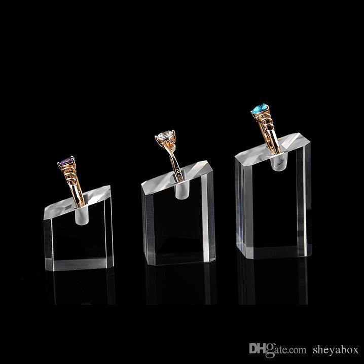 Espositore gioielli Anelli vetrine Vetrina negozi Espositori in acrilico trasparente con fessure gioielli