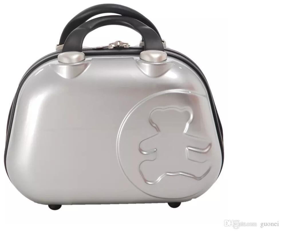 New urso pequeno Cosmetic Bag Mulheres Homens saco ocasional de viagem 2,017 multifuncional Cosméticos sacos saco de armazenamento da composição Bolsa Tamanho 12 polegadas