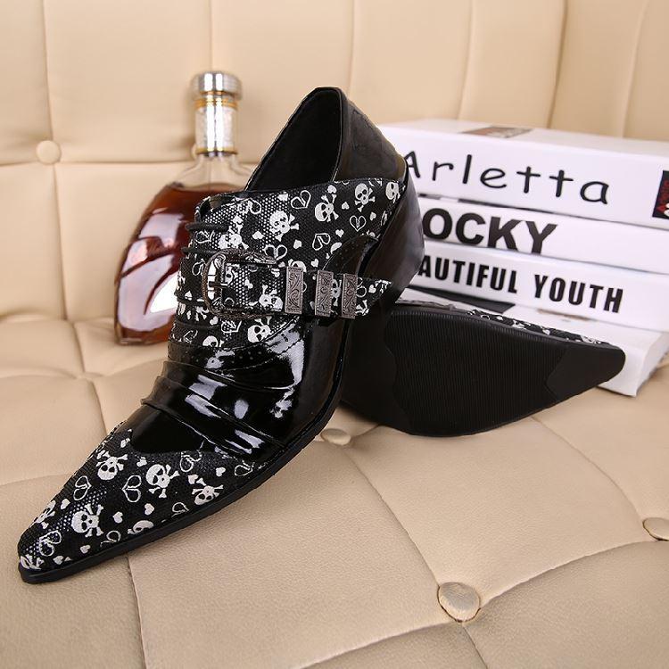 NUOVO 2019 Personalizzato Zapatos Hombre ITALIA TIPO scarpe a punta uomo moda traspirante in pelle nera uomo Scarpe Business Dress Shoes Uomo
