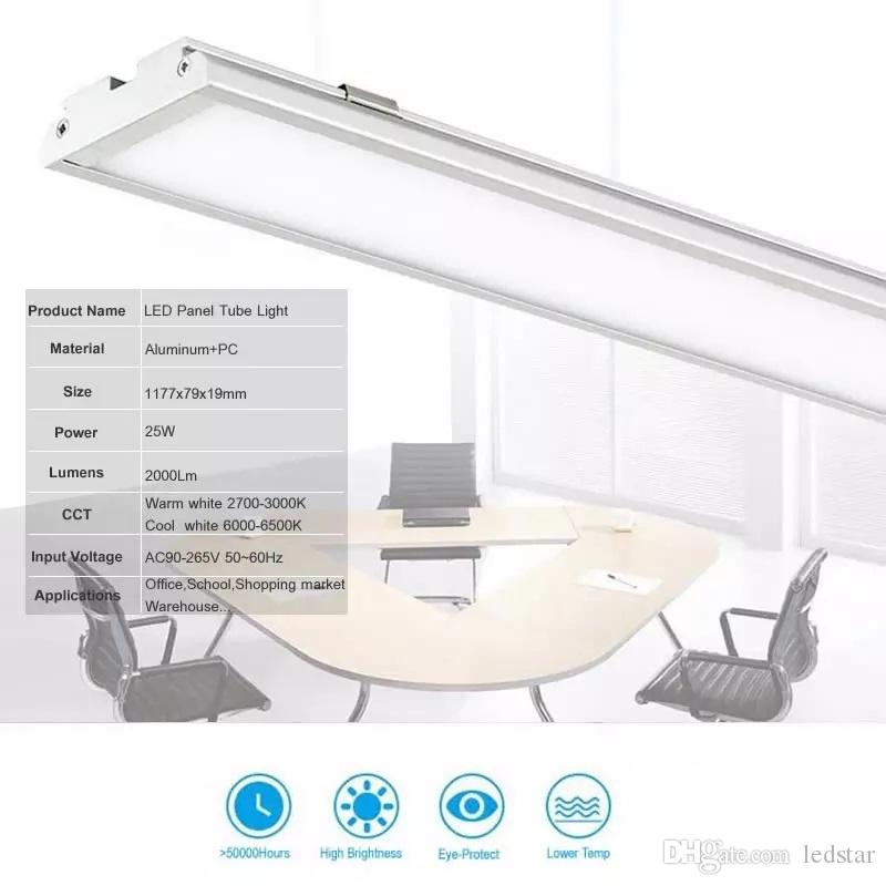 25W led downlights recessed Panel Light 4ft 1200mm batten Tube shaped surface mounted led ceiling lamp High brightness 2000LM AC85-265V