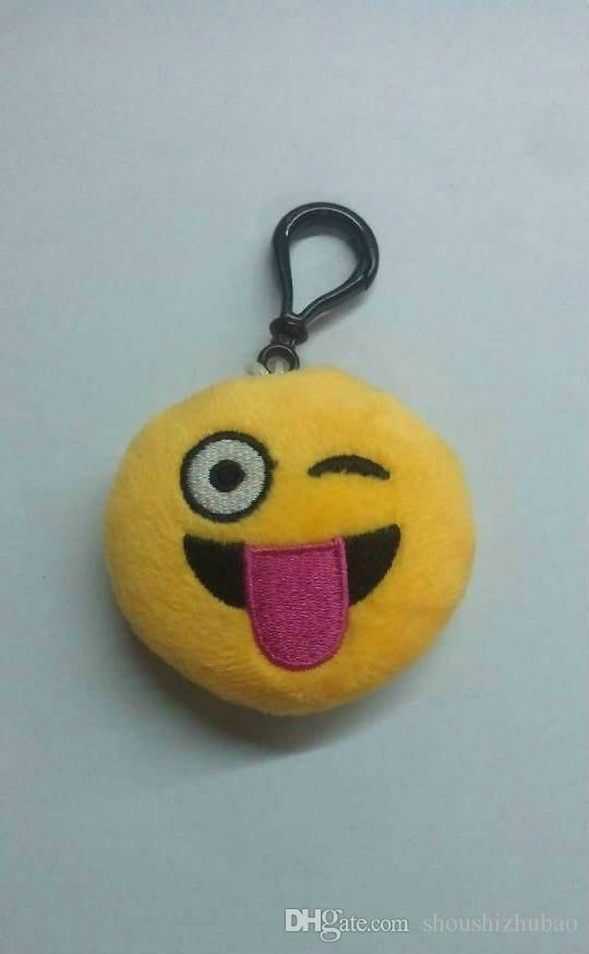 Direct selling plush toys 6 cm emojiQQ expression pendant key buckle creative toy cartoon jewelry
