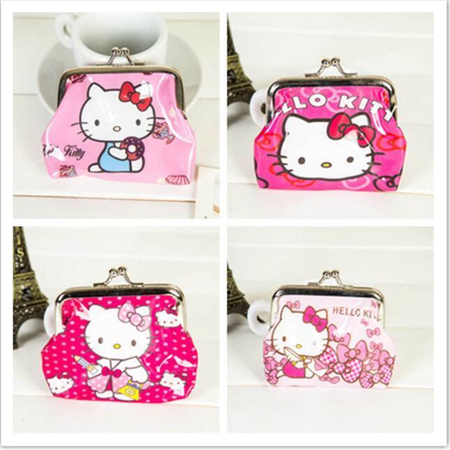 Wholesale- Hello Kitty Wallet Mini Coin Purse Cheap Mini Wallets NO ... e5fc675896