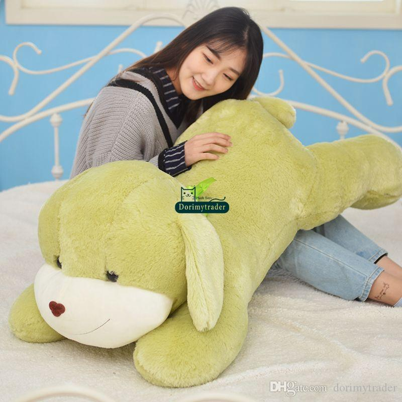 Dorimytrader peluche morbido cane cartone animato peluche grande anime anime farcito cuscino cuscino regalo di natale 47 pollici 120 cm DY61838