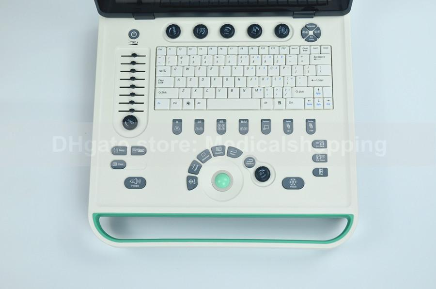 DHL multi-languages ultrasound scanner 3D software black and white 15in LCD with any one probe pc system, B-ultrasound