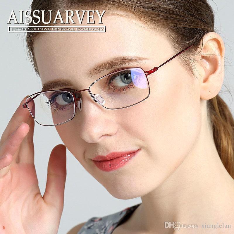 Online Cheap Titanium Metal Frame Glasses Prescription Glasses ...