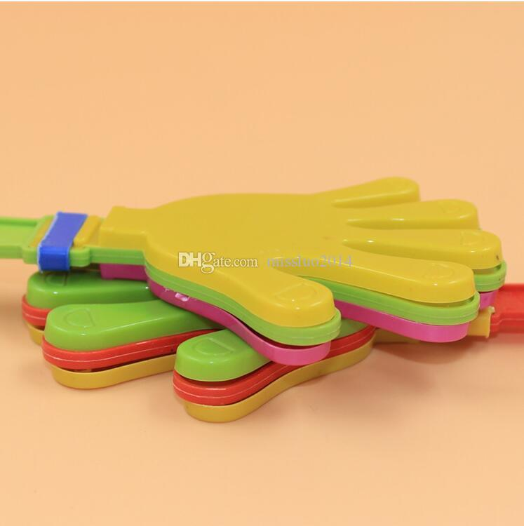 Hot sale Plastic Hand clapper clap toy cheer leading clap for Olympic game football game Noise Maker Baby Kid Pet Toy