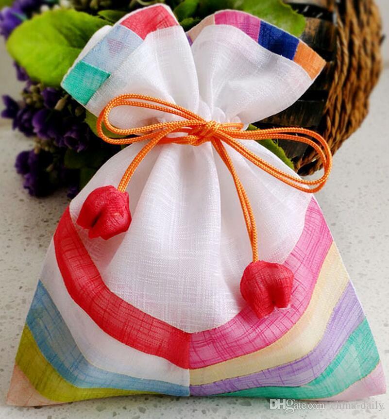 FreeShip 16 * 20cm 20 * 25cm 24 * 35cm 수제 고품질 공동 접합 헝겊 가방 보석 가방 캔디 비즈 웨딩 파티 크리스마스 선물 가방