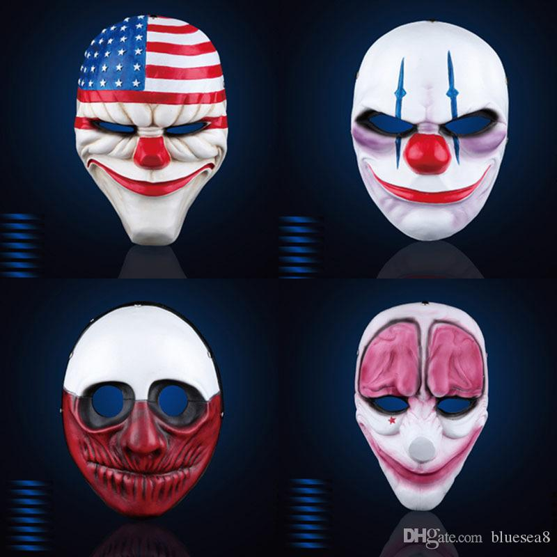 Wholesale Halloween Horror Mask Payday Mask Newest Topic Game Series ...