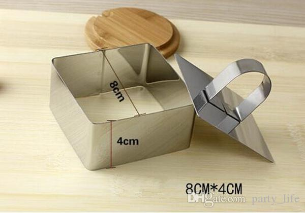 Round, Square, Flower shaped, Heart shaped Stainless Steel mousse ring cake cookie cutter mould baking tool.
