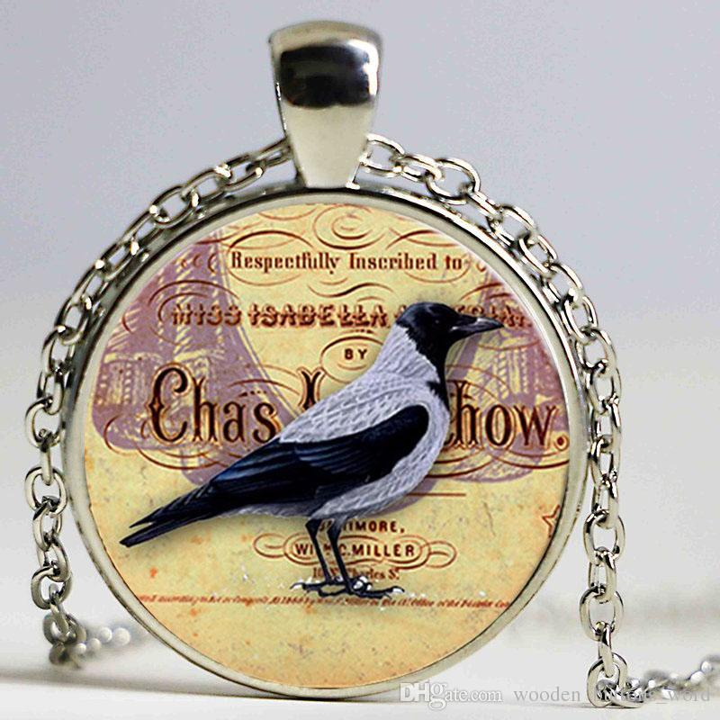 wholesale vintage halloween jewelry women crow pattern necklace sweater chain chokers necklace men sailor moon pendant necklace women mens necklaces silver