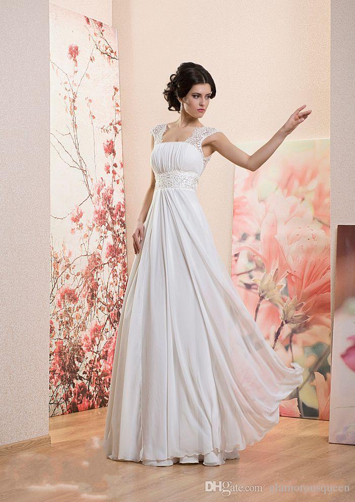 Boho 아이보리 롱 비치 웨딩 드레스 저렴한 가격 레이스 캐피탈 슬리브 크리스털 페르시 벨트 레이스 최대 A 라인 길이의 브라 가운